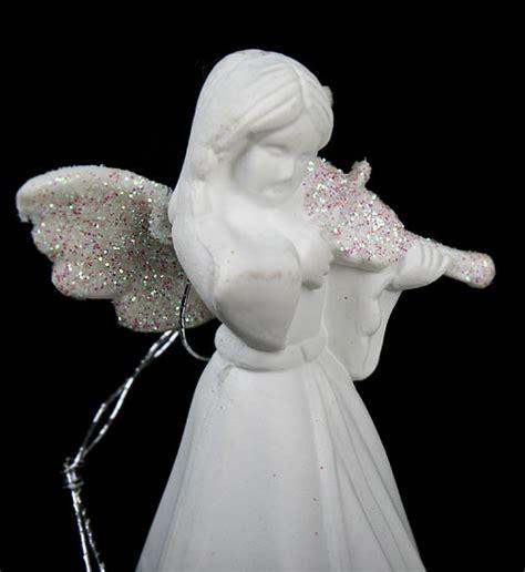 set   white porcelain angel ornaments christmas