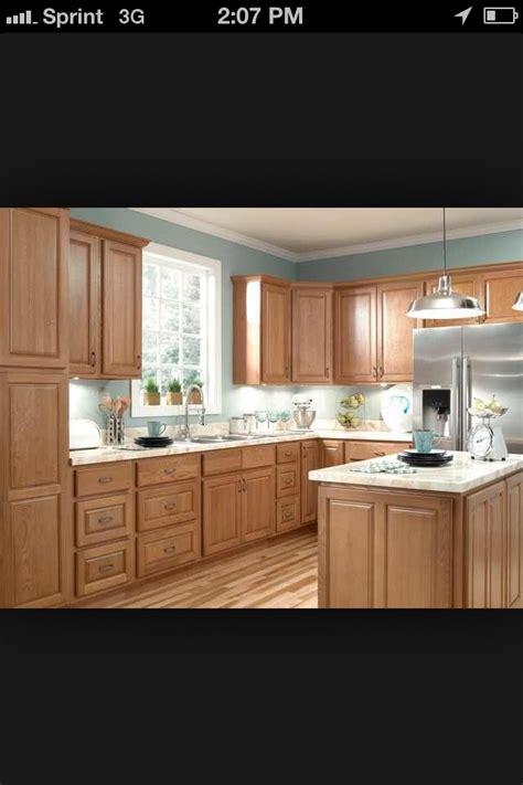 blue kitchen oak cabinets quicua