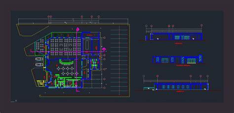 cafeteria dwg block  autocad designs cad