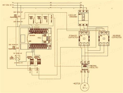 electrical wiring diagram  reverse motor control