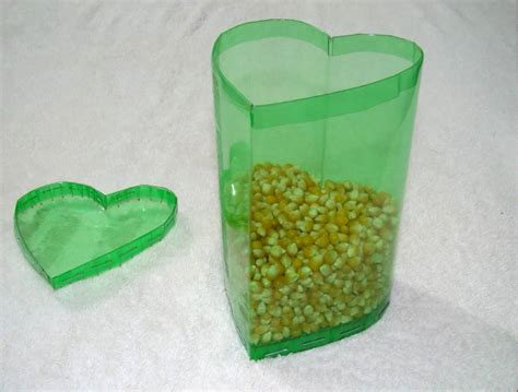 caja en forma de coraz 243 n hecha con botellas de pet v 237 deo completo trabajos manuales