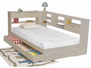Lit Pas Cher 1 Place : lit une place avec tiroir l gant lit une personne avec ~ Teatrodelosmanantiales.com Idées de Décoration