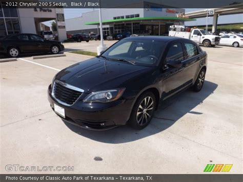 2012 Chrysler 200 S by Black 2012 Chrysler 200 S Sedan Black Interior