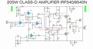 Class D Power Amplifier Schematic Diagram