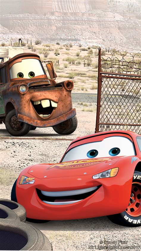 lightning mcqueen and mater wallpaper 750x1334 by