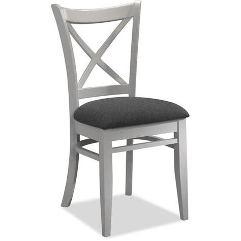 chaise blanche et grise lot de 4 chaises tissus gris et bois blanc achat vente