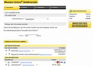 Western Union Gebühren Berechnen : geld ab 0 geb hren per western union versenden und 5 gutschein ~ Themetempest.com Abrechnung