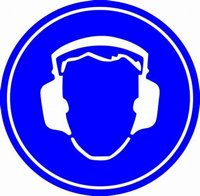 Protection Ear Signs Safety Required Hearing Sign