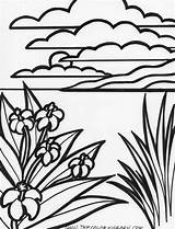 Coloring Pages Summer Printable Landscape Island Sloth Flowers Scuba Diver Beach Drawing Stained Glass Quilts Patterns Line Clipartbest Canvas Pixels sketch template