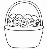Coloring Basket Easter Empty Popular sketch template