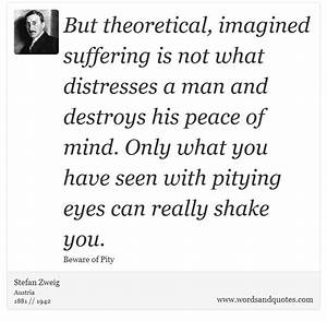 On Suffering But theoretical, imagined suffering is not what