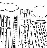 Coloring Building Pages Apartment Tall Printable Blocks Sheets Colouring Skyscraper Template Templates Comic Skyscrapers sketch template