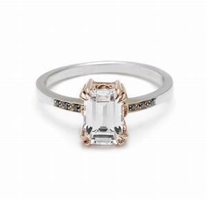 emerald cut diamond engagement ring onewedcom With emerald cut wedding ring