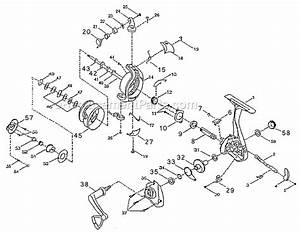 Pflueger Microspin Mss Parts List And Diagram