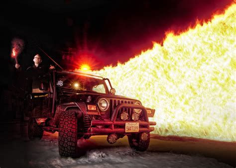 Burning The Jeep #photoshopscaresme