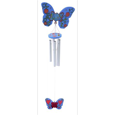 butterfly wind chimes butterfly wind chime fun with wood and wood bases from crafty crocodiles uk