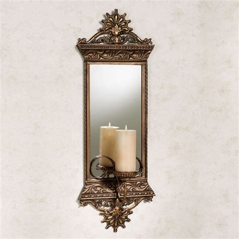 Wall Sconc by Georgiane Mirrored Metal Wall Sconce