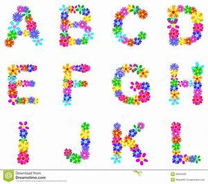 spring flowers alphabet creative projects ideas With flower letters alphabet