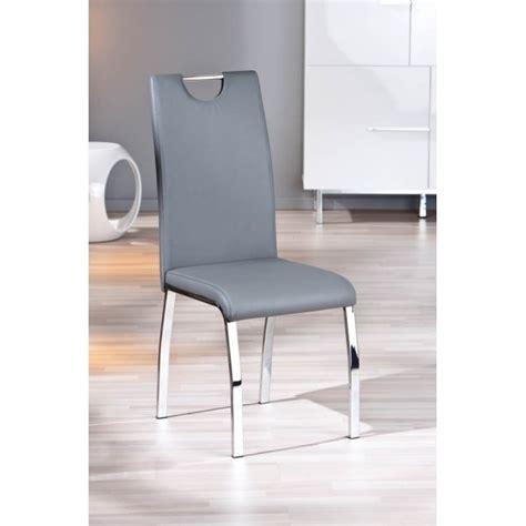 canapé lit 2 places pas cher lot de 2 chaises grises modernes utah pieds en chrome