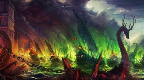 sea  ship fantasy art game  thrones wallpapers hd