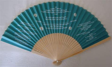 custom printed fans for weddings wedding invitation wedding program fans fantastica uk
