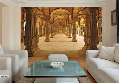 indian palace corridor  wallpaper