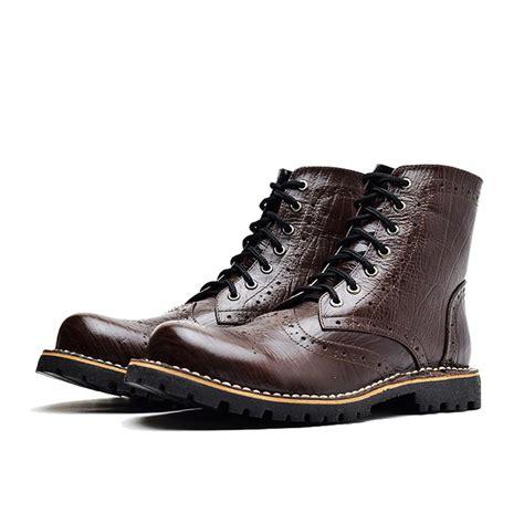jual sepatu boots boot kulit premium pria klasik wetan