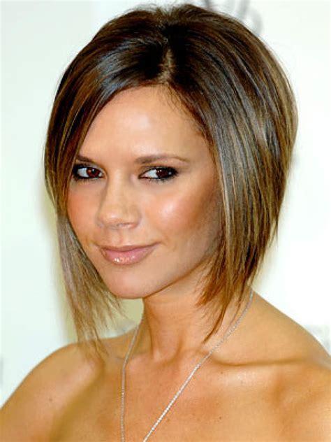 short angled bob  thick hair women hairstyles