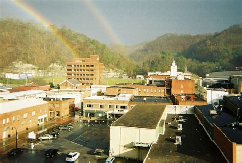 pikeville ky double rainbow   myers towers