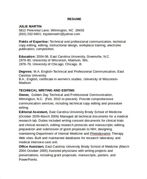Copy Of Resume by Sle Copy Editor Resume 7 Free Documents In