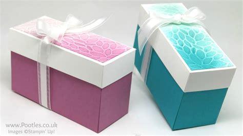 Lidded Box Template by Sponged Embossed Lidded Box