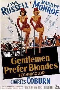 Gentlemen Prefer Blondes Movie Posters From Movie Poster Shop