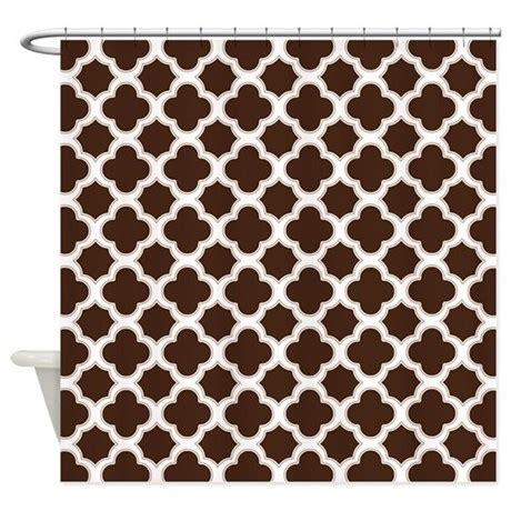 brown and white shower curtain quatrefoil pattern brown and white shower curtain by
