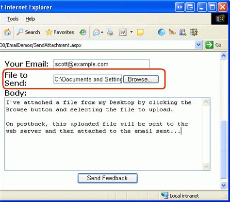 What To Write In An Email Subject When Sending A Resume by Sending Email In Asp Net 2 0 Html Formatted Emails