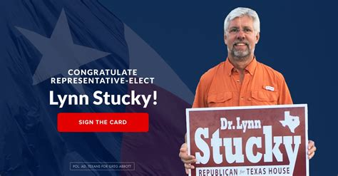 Congratulate Representative-Elect Stucky - Greg Abbott
