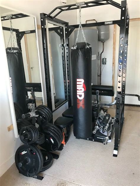 gym equipment power rack olympic bar weights bench chains