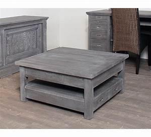 Table Chene Massif : table basse carree chene massif 3822 ~ Melissatoandfro.com Idées de Décoration