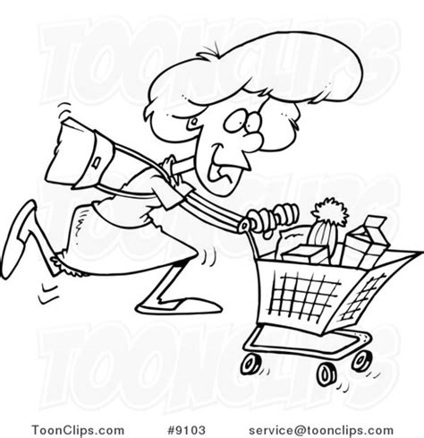 grocery clipart black and white black and white line drawing of a grocery shopping