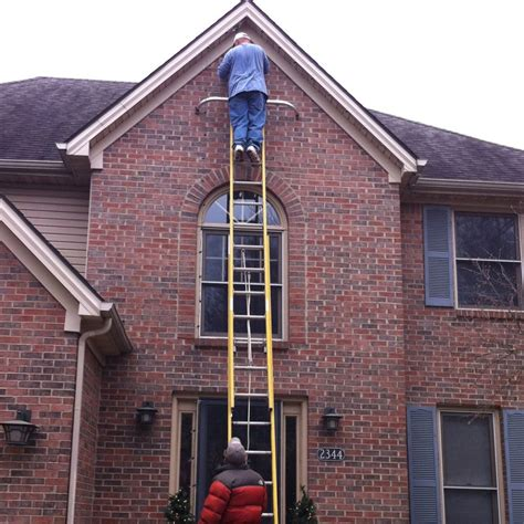 avoid injuries while hanging lights