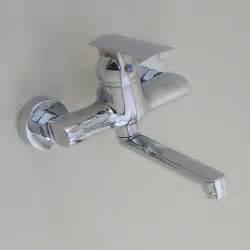 Wall Mounted Chrome Kitchen Faucet  Modern Kitchen