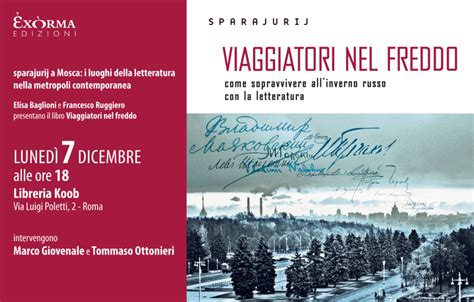 libreria koob roma presentazione di quot viaggiatori nel freddo quot libreria koob