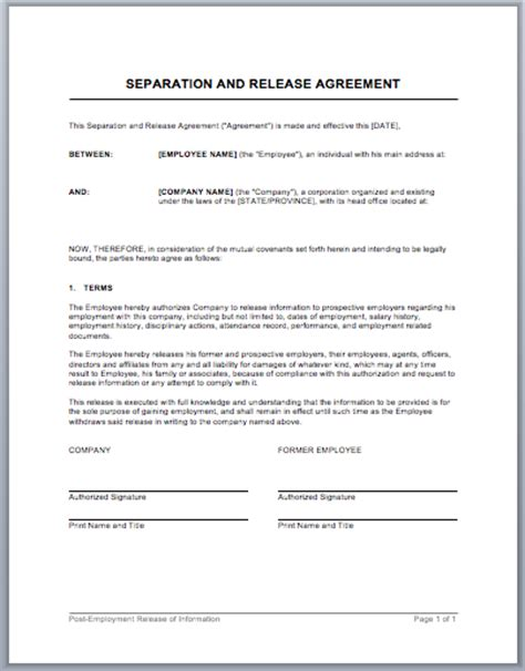 work agreement contract format