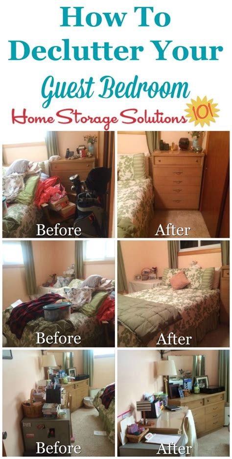 guest bedroom declutter mission   clear  clutter