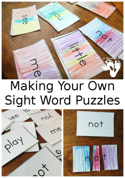 word puzzles sight words and puzzles on