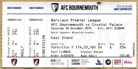Bournemouth v Crystal Palace ticket   AFC Bournemouth 0-0 ...