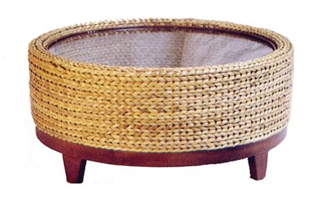 round seagrass coffee table fong brothers co fb 1424 b round coffee table
