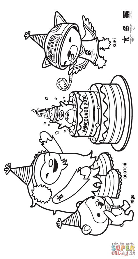 vancouver olympic mascots  coloring page  printable coloring pages