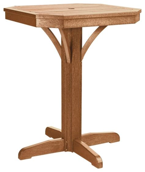 st tropez 28 quot square counter pedestal table contemporary