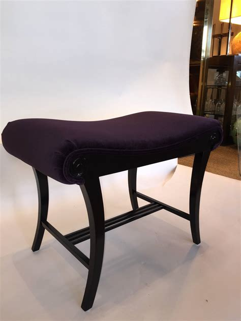 ebonized deco vanity stool for sale at 1stdibs