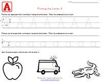 kids learn  print traceable alphabet worksheets